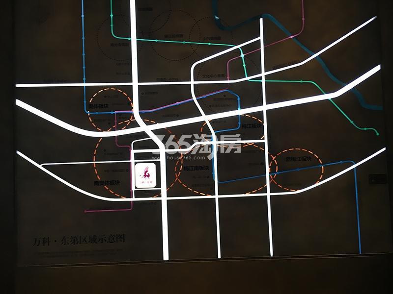 万科东第交通图