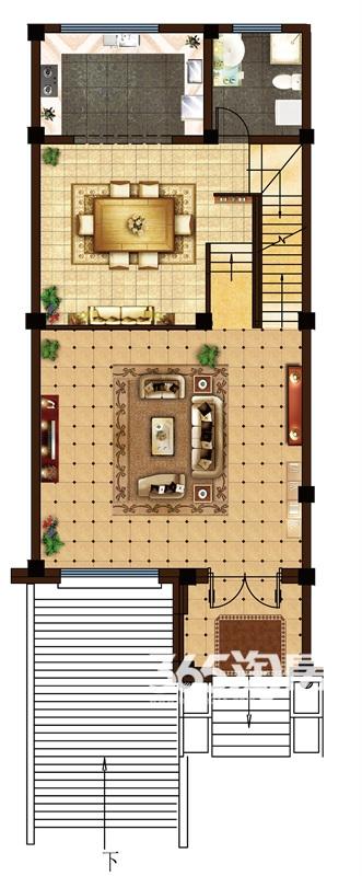 金科半岛1号B2户型(244-254㎡)