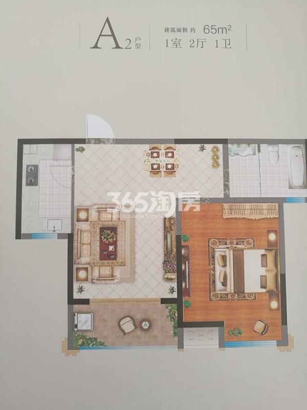 A2一室两厅户型图