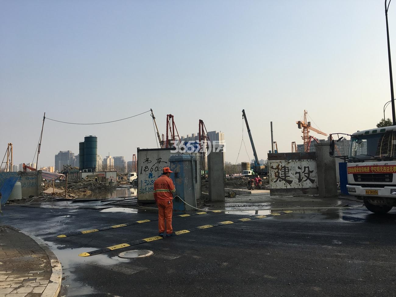 2017年3月融信热电厂地块施工现场