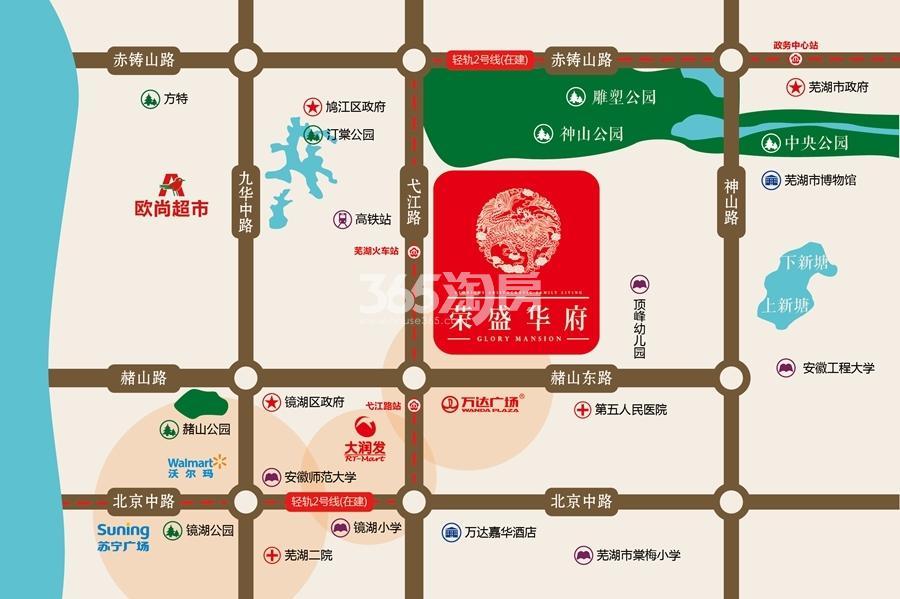 荣盛华府交通区位图