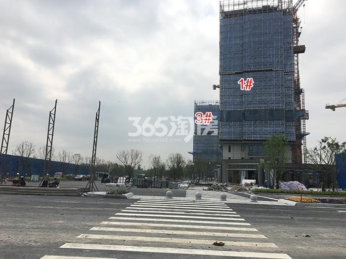 万科西雅图1、3号楼施工进程(2017.4)