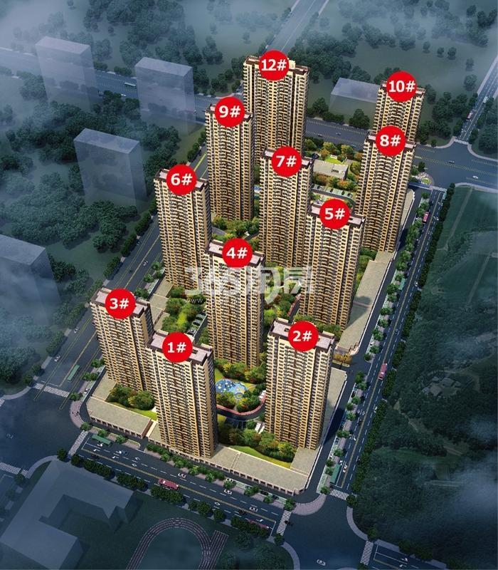 中国铁建保利像素鸟瞰图