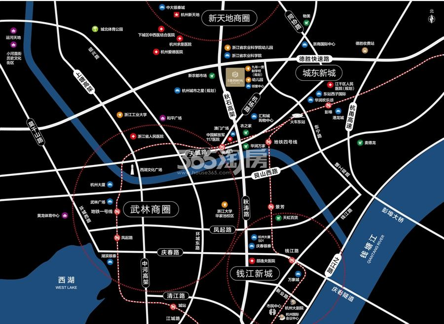 新天地金色时光交通图