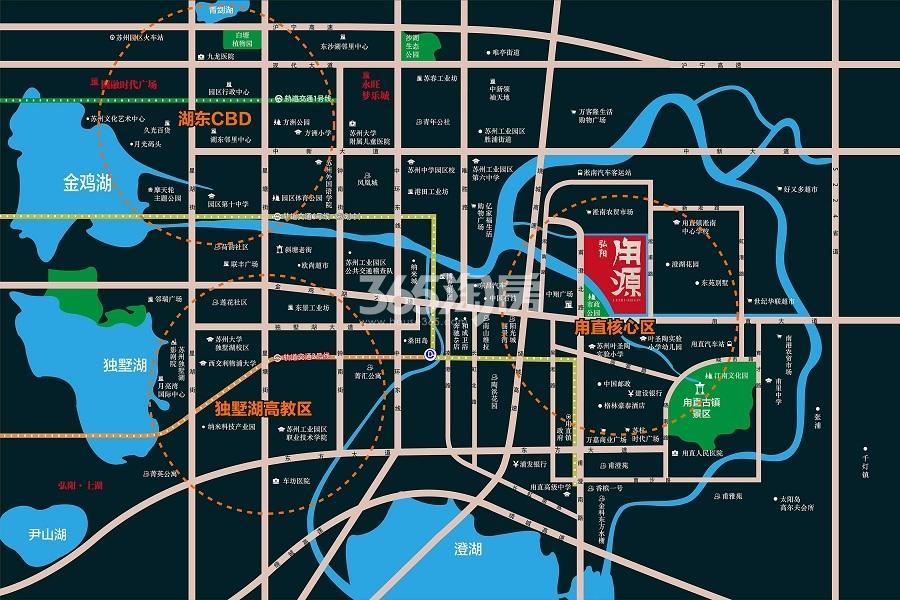 弘阳甪源交通图