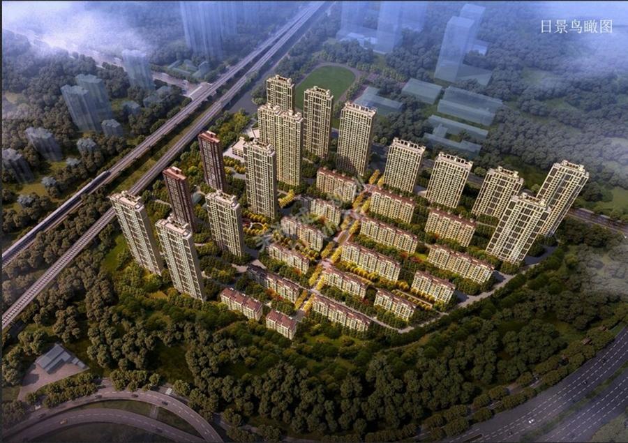 中梁江城1621鸟瞰图