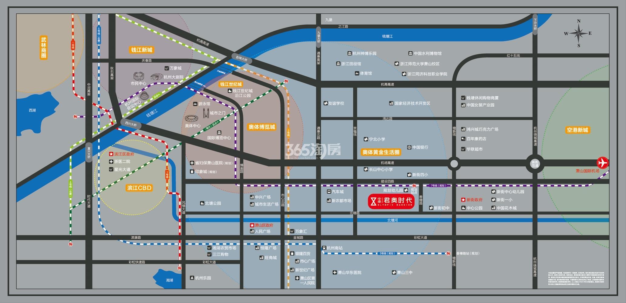 中南君奥时代交通图