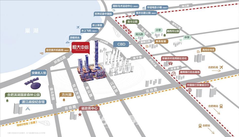 恒大中心湾之星交通图