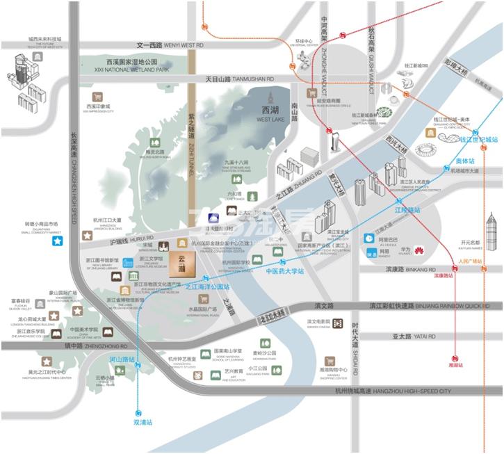 和昌云潮项目交通区位图