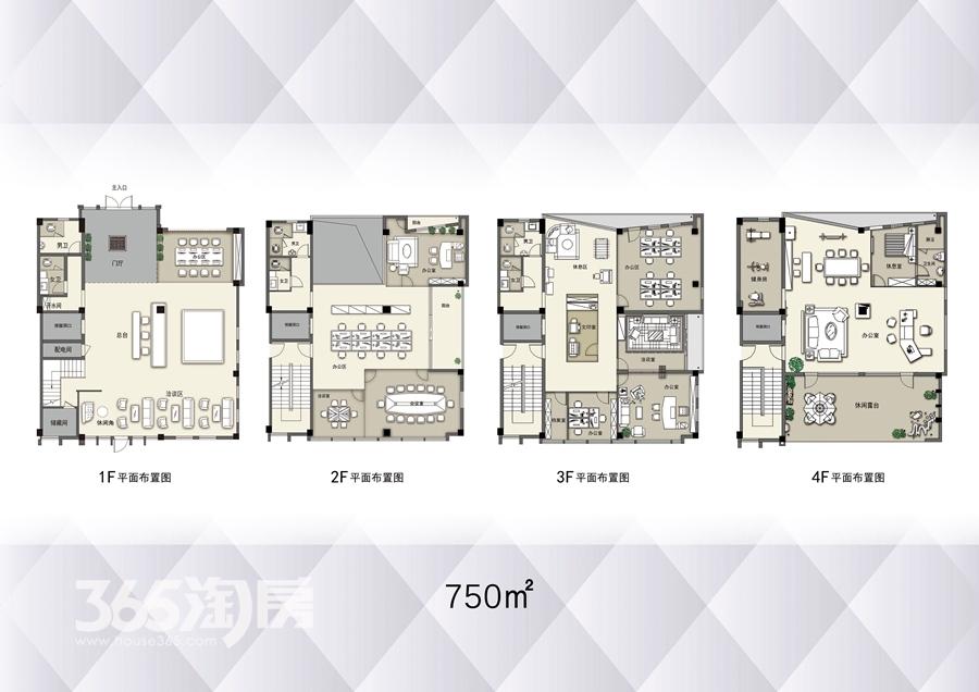 云谷科技园750平户型图