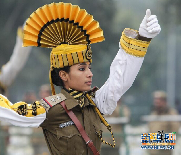 印度举行共和日阅兵彩排